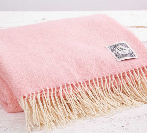 Pink Chunky Blanket - Old Rose - Tolly McRae