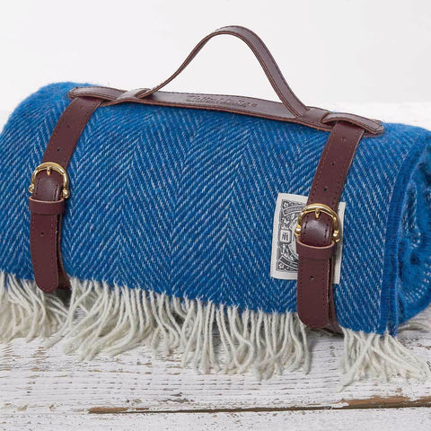 Picnic Rug / Chunky Blanket - Royal Blue - Tolly McRae