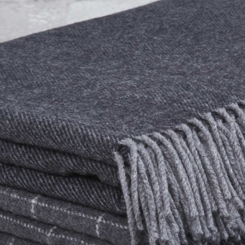 Super Soft Merino Throw - Raven Black - Tolly McRae