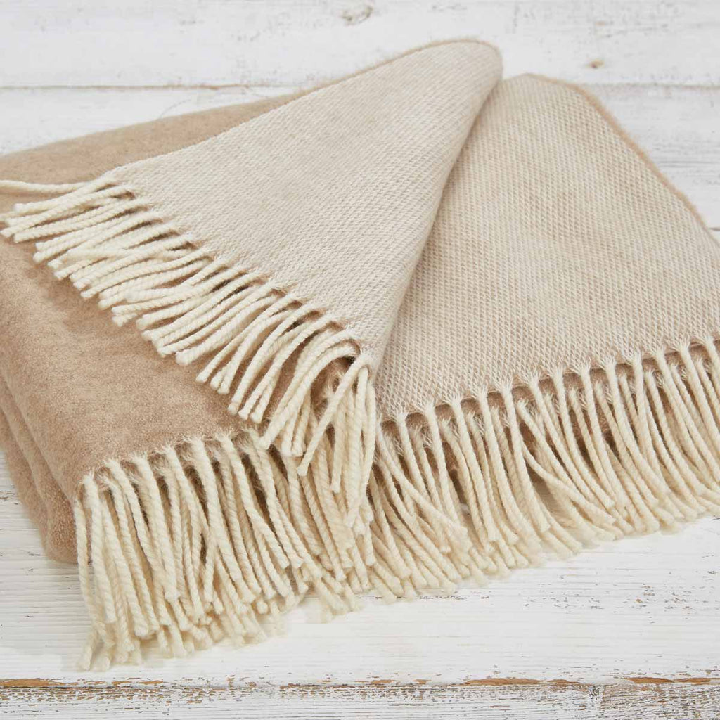 Super King / Emperor Size Throws -  Beige, Olive & Grey LIMITED QUANTITIES
