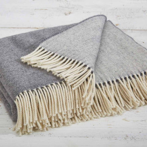 grey reversible throw