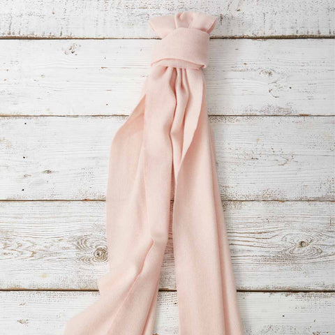 Large Cashmere Mix Scarf - Blush Pink - Tolly McRae