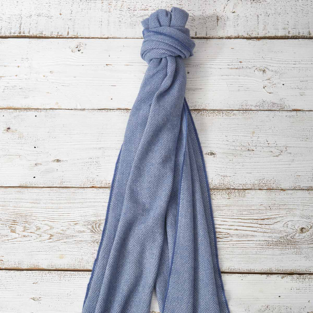 Large Cashmere Mix Scarf - Ice Blue - Tolly McRae