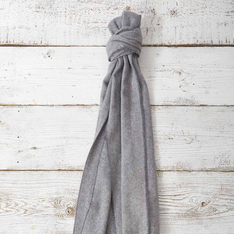 Large Cashmere Mix Scarf - Lady Grey - Tolly McRae