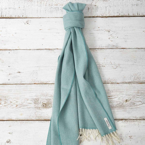 Large Cashmere Mix Scarf - Winter Green - Tolly McRae