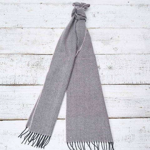Extra Long Scarf - Grey and Pink