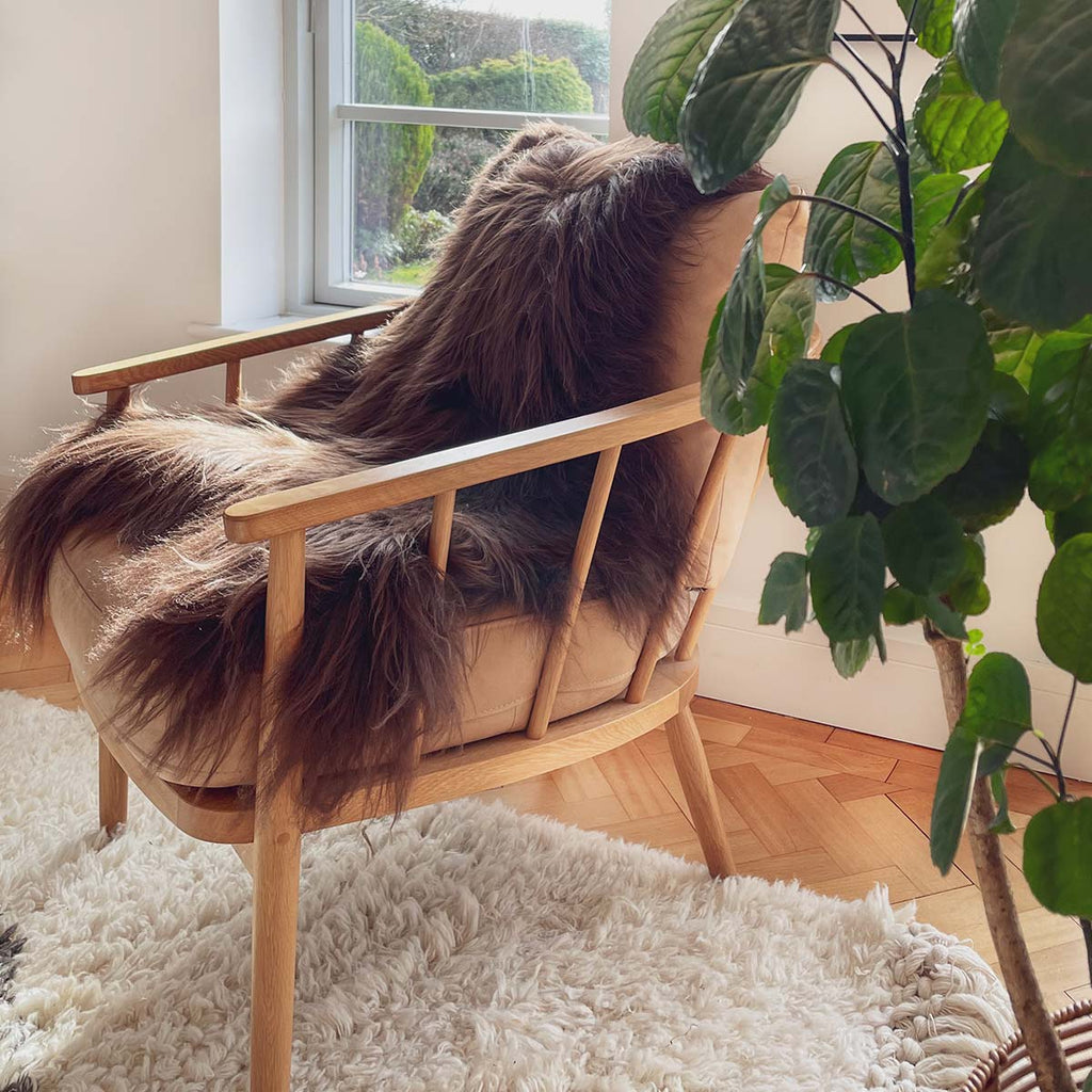 Sheepskin Rug - Icelandic Chestnut Brown