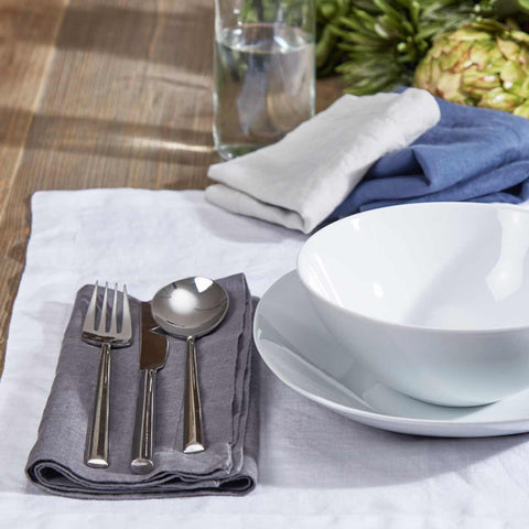 White Linen Placemats - Set of Four - Tolly McRae