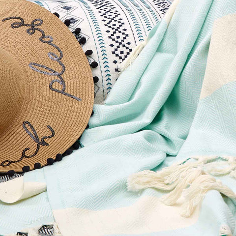 Hammam Beach Towels - Mint, Aqua, Coral - Tolly McRae