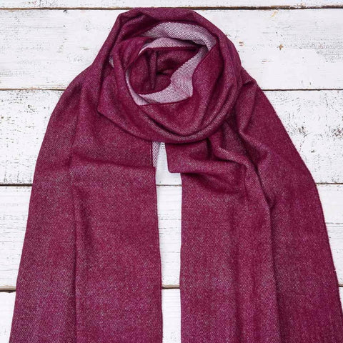 Mulberry Pink Reversible Wrap / Scarf / Pashmina - Tolly McRae