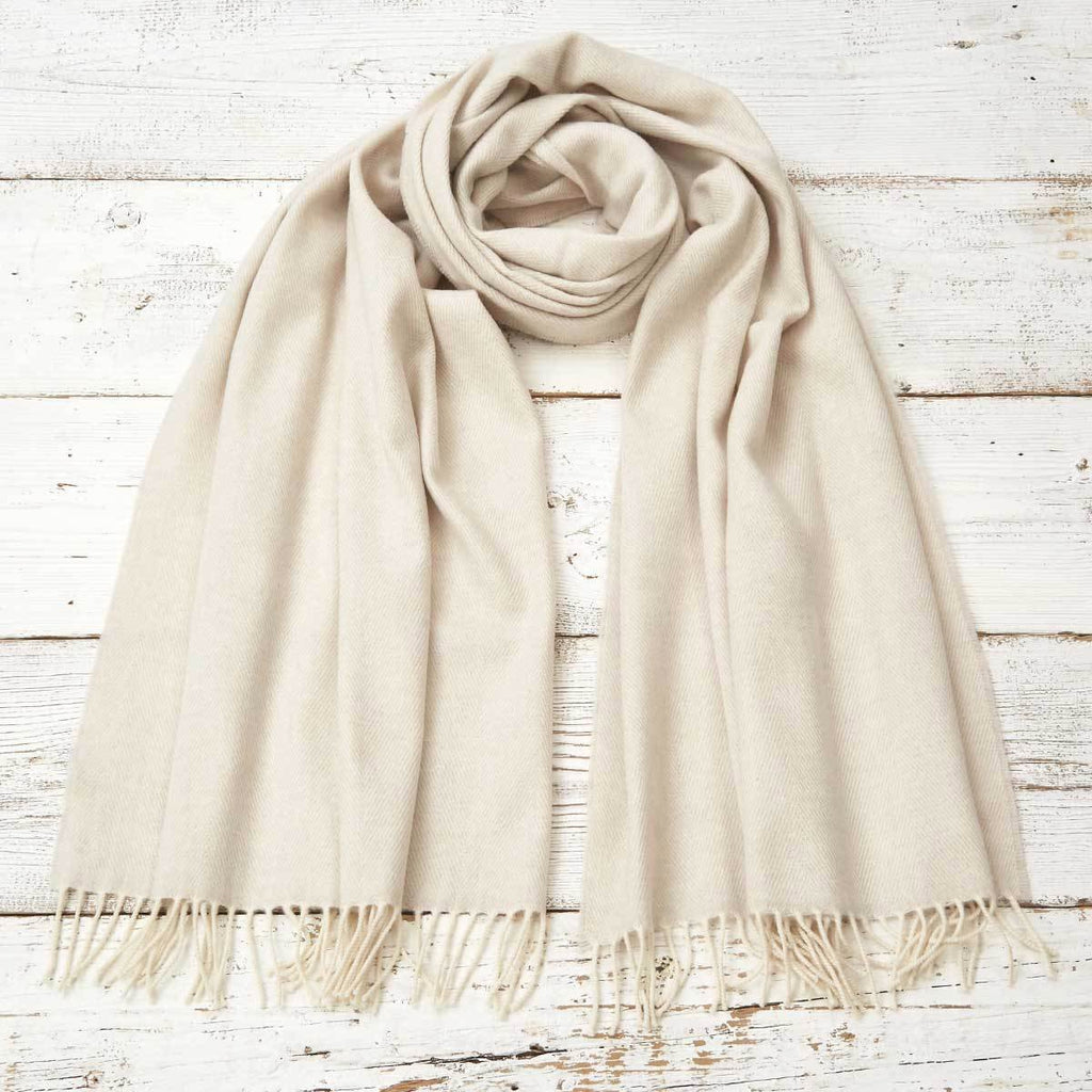 Wrap / Scarf / Pashmina - Lime White Cashmere Mix - Tolly McRae