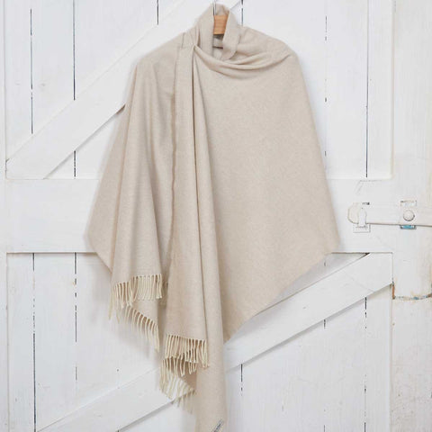 Blanket Scarf / Maxi Wrap / Pashmina - Lime White Cashmere Mix - Tolly McRae