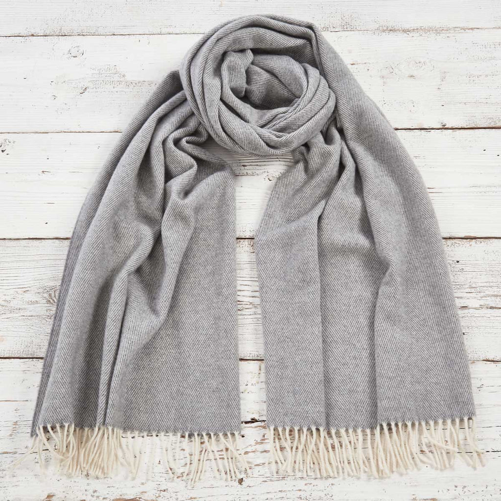 Lady Grey Cashmere Mix Wrap / Scarf / Pashmina - Tolly McRae