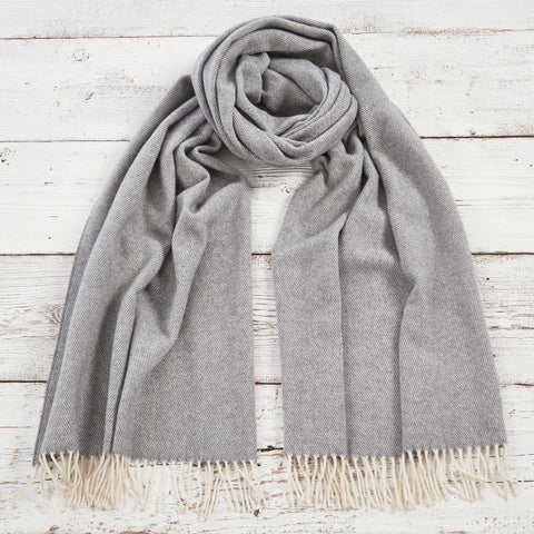 Blanket Scarf / Wrap / Pashmina - Lady Grey Cashmere Mix