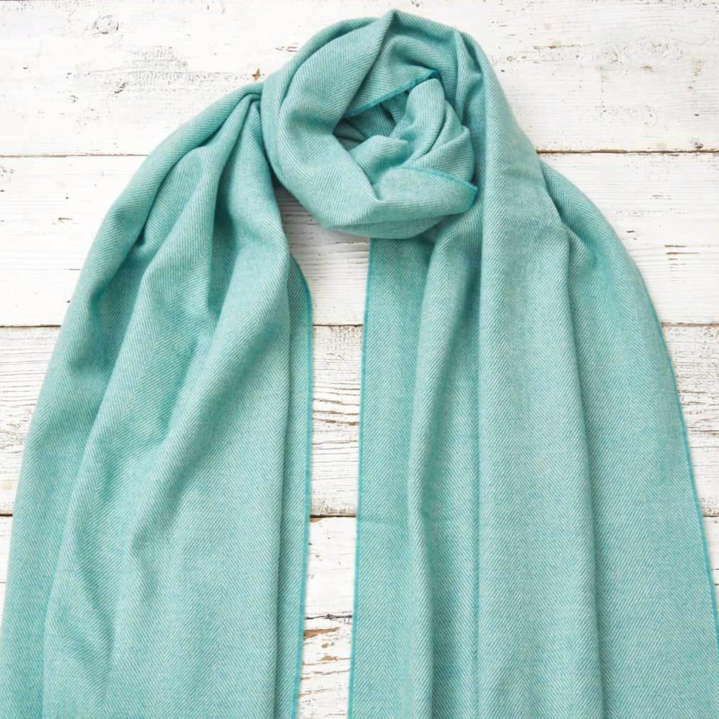 Mint Green Wrap / Oversized Scarf / Pashmina - Tolly McRae