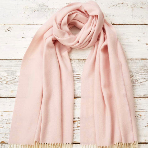Blanket Scarf / Wrap / Pashmina - Blush Cashmere Mix