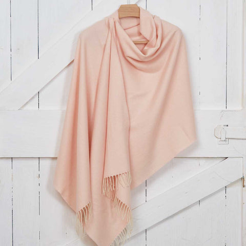 Blush Pink Wrap / Oversized Scarf / Pashmina - Cashmere Mix - Tolly McRae