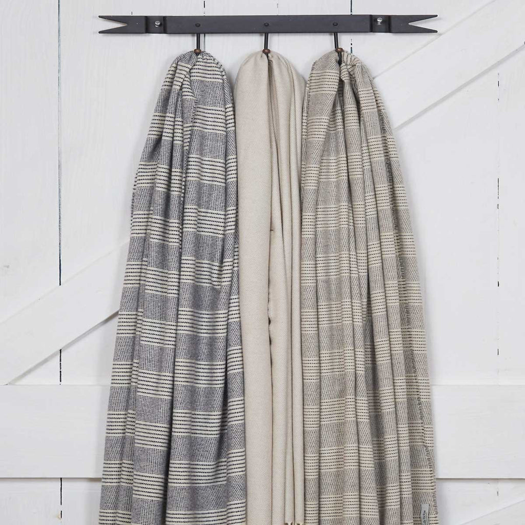 Giant Wrap / Travel Wrap / Pashmina - Chalk Stripe Alpaca Mix