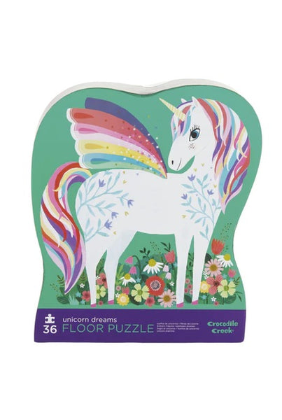 Crocodile Creek Unicorn Garden 36pc Floor Puzzle