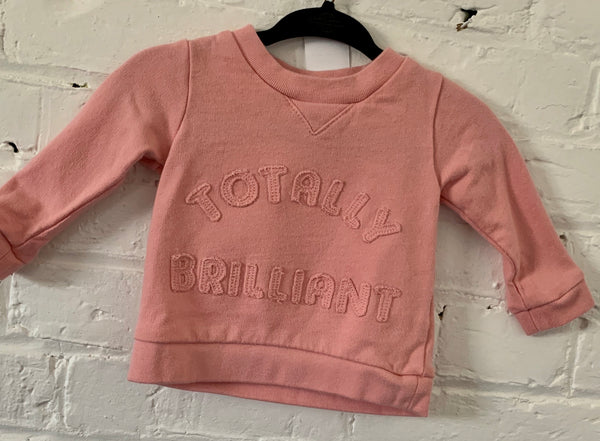 Carters Totally Brilliant sweatshirt 3m