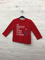 Christmas list shirt 2t