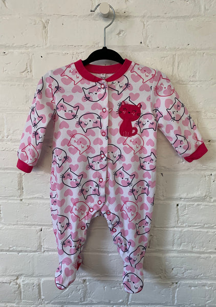 Kitties cotton snap sleeper 3m