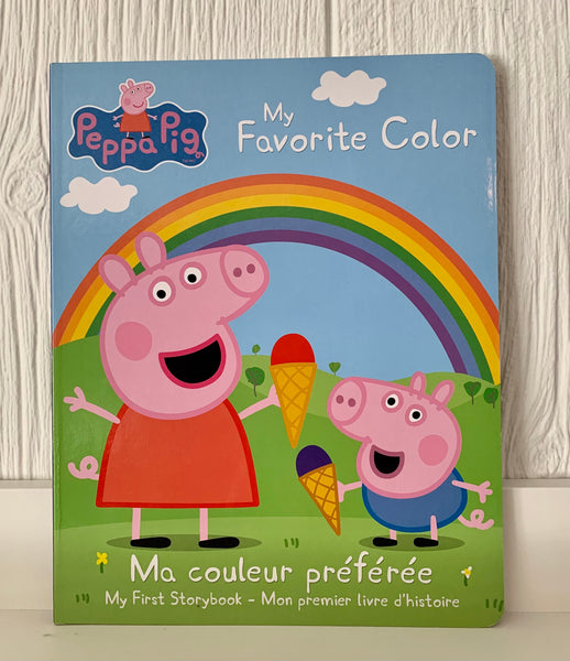Peppa Pig: My Favorite Colour (English/French)