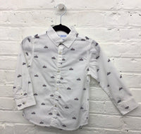 Mayoral slim fit race car print shirt 2