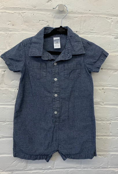 Carters denim romper 12m