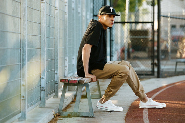 Publish Khaki Joggers with Converses