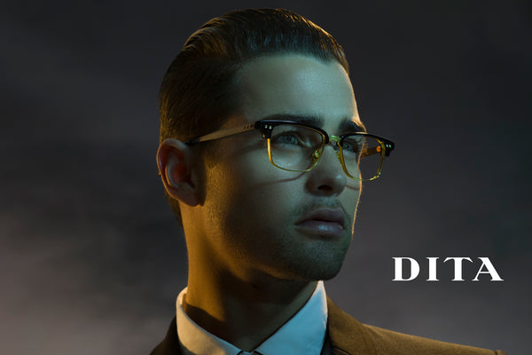 dita statesman three black gold glasses