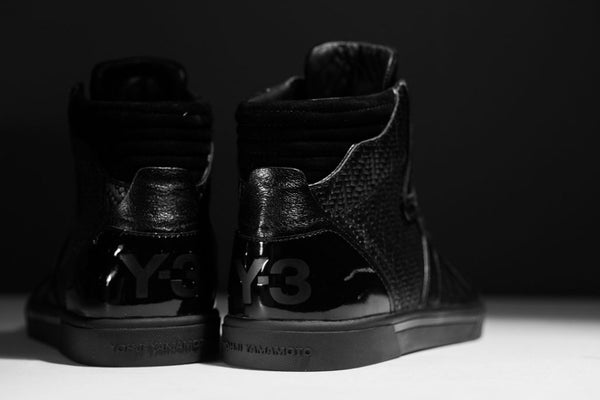y3 black high sneakers