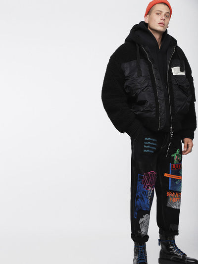 DIESEL W-PATTY JACKET BLACK