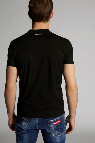 DSQUARED2 S74GD0601 SS TEE BLACK