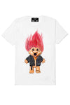 DOMREBEL TROLL T-SHIRT HOLES WHITE