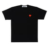 CDG P1T118 PLAY T-SHIRT RED HEART BLACK