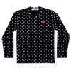CDG P1T166 PLAY POLKA DOT T-SHIRT RED HEART BLK/WHITE