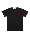 CDG P1T108 PLAY T-SHIRT RED HEART BLACK