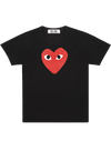 CDG P1T112 PLAY T-SHIRT RED HEART BLACK