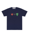 CDG P1T186 PLAY NAVY T-SHIRT LOGO NAVY