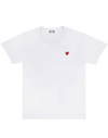 CDG P1T200 PLAY T-SHIRT RED LITTLE HEART WHITE