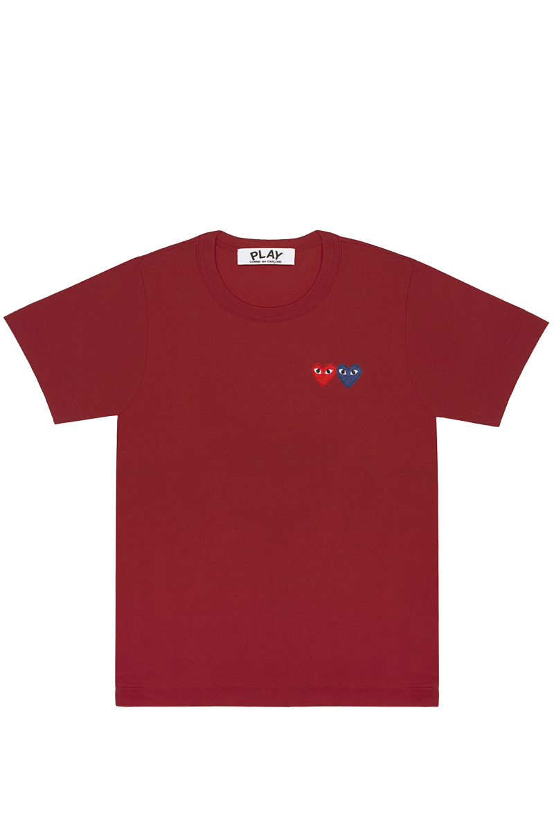 CDG P1T226 PLAY T-SHIRT BURGUNDY