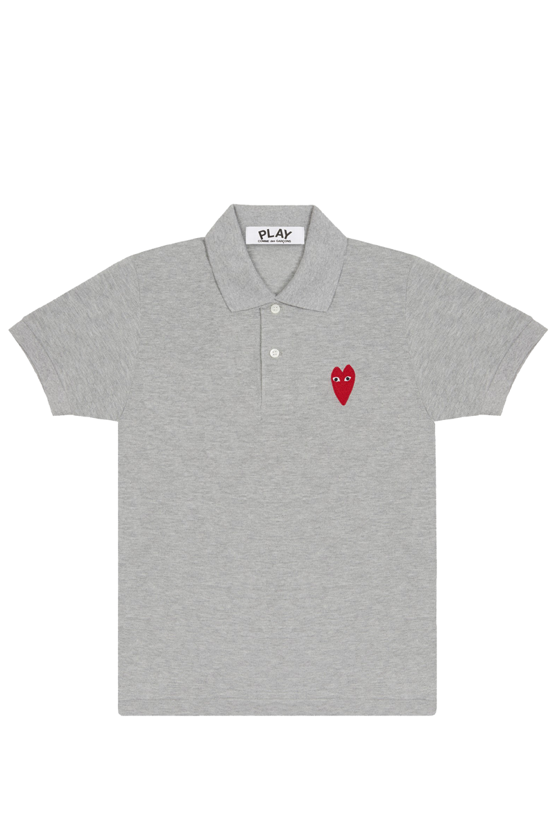 CDG P1T232 PLAY POLO SHIRT GREY
