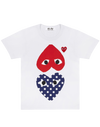 CDG P1T240 PLAY POLKA DOT T-SHIRT WHITE