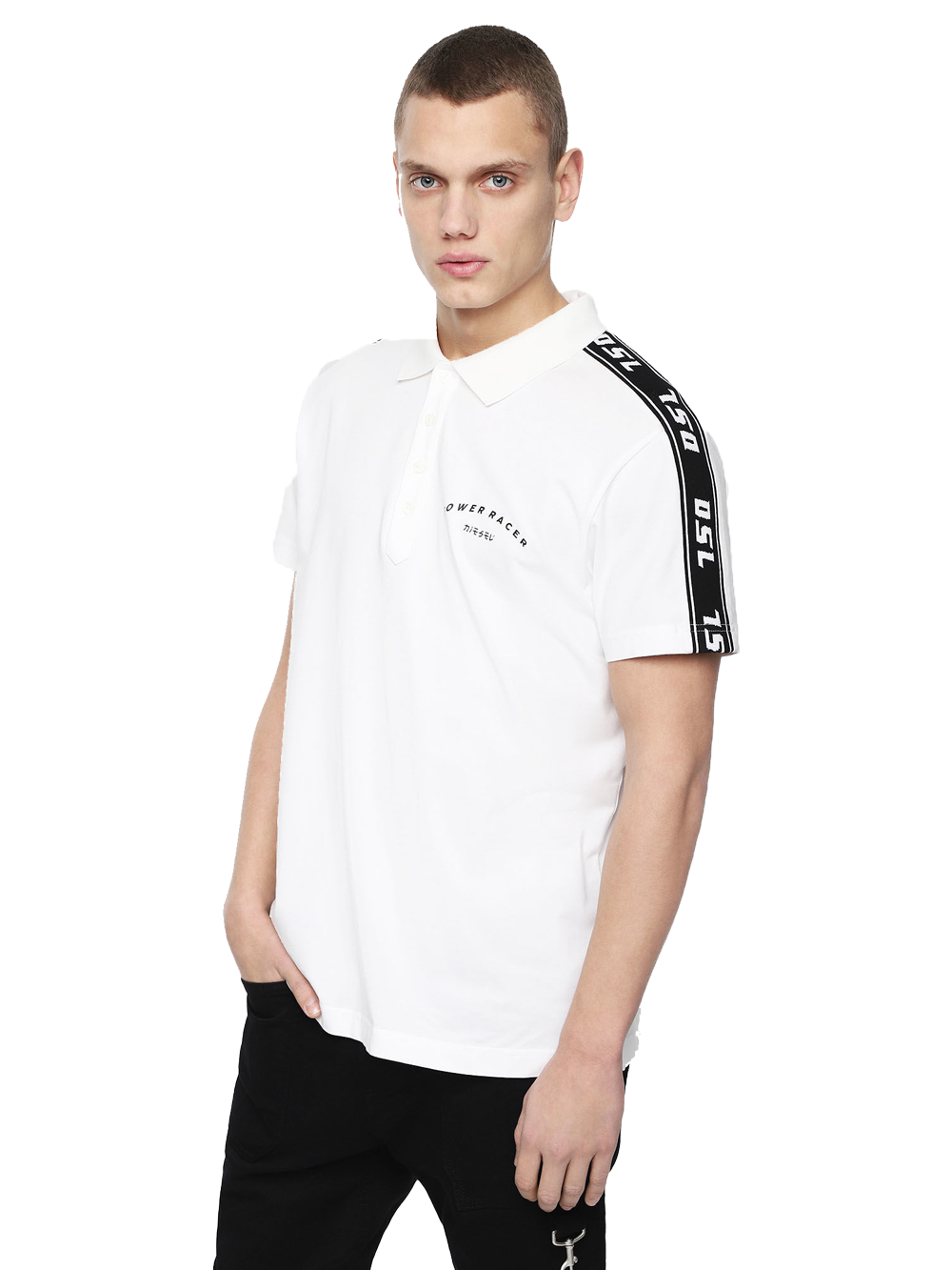 DIESEL T-GOROU POLO SHIRT BRIGHT WHITE