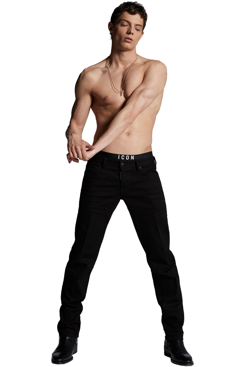 DSQUARED2 S74LB0343 SLIM JEAN BLACK