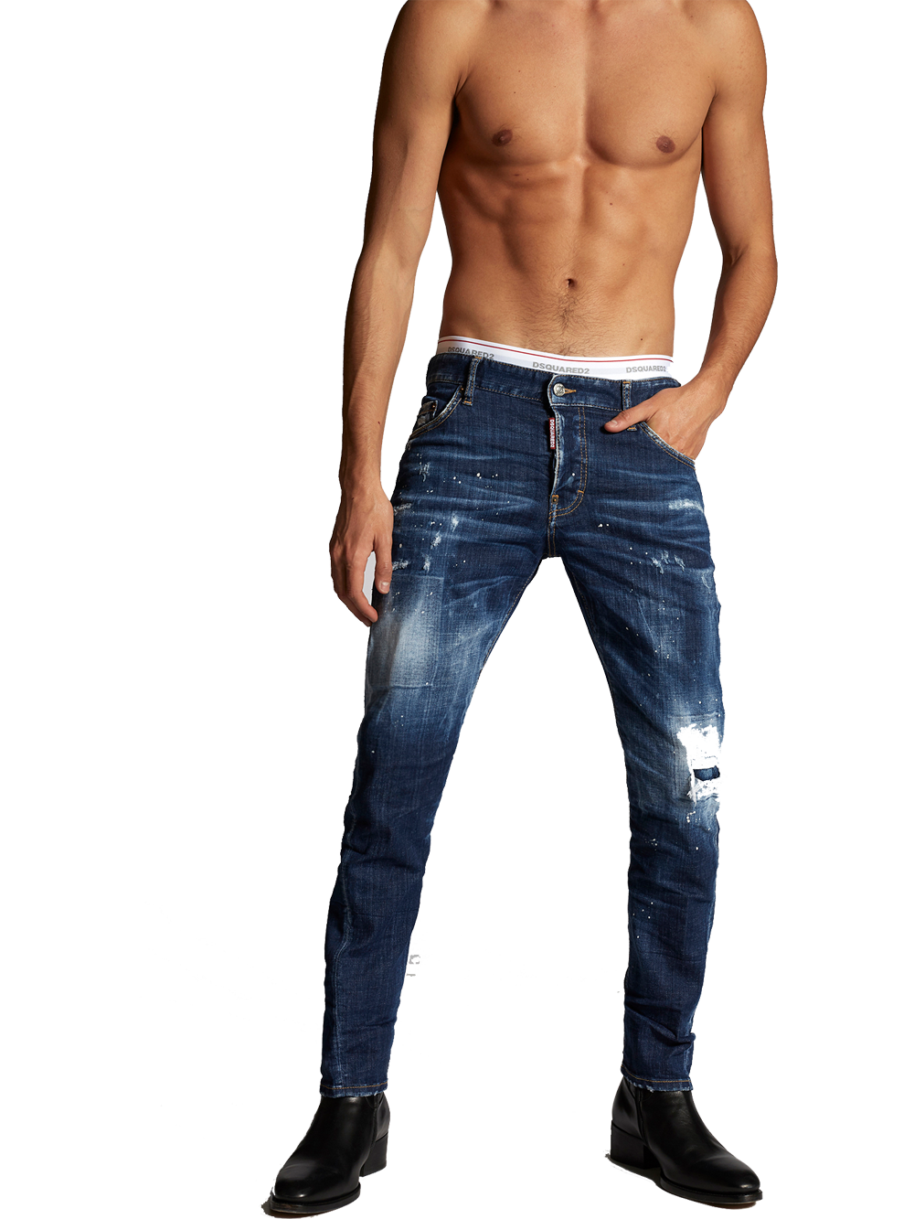 DSQUARED2 S74LB0598 SLIM JEAN BLUE