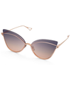DITA NIGHTBIRD ONE-ROSE GOLD W/ DARK GREY TO PEACH GRADIENT-AR