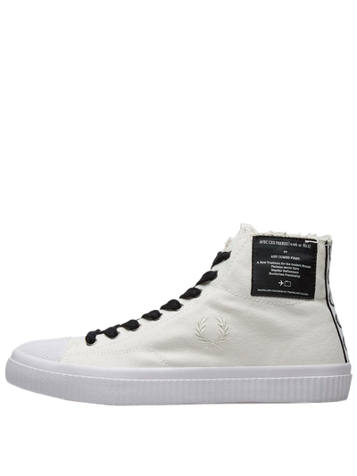 FRED PERRY B5266 HUGHES MID CVS SNOW WHITE