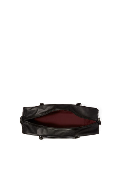 FRED PERRY L3205 SAFFIANO OVERNIGHT BAG BLACK